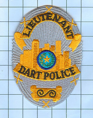 Police Patch Embroidered Mini-Patch Collectible - Texas - Lieutenant DART Police