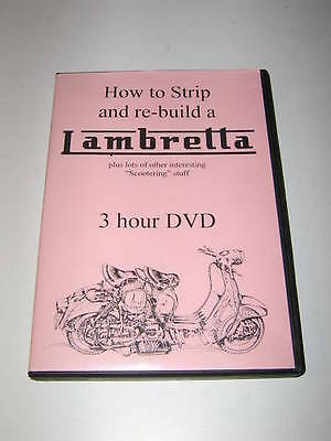 "Original DVD  ""HOW TO STRIP AND REBUILD A LAMBRETTA""."