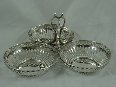 DOLPHIN solid silver NUT DISH, 1910, 135gm