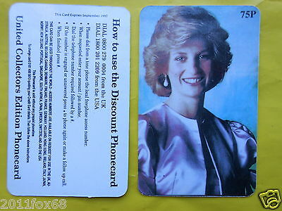 cartes de telephone 1997 phone cards 75P lady diana princess diana telefonkarten