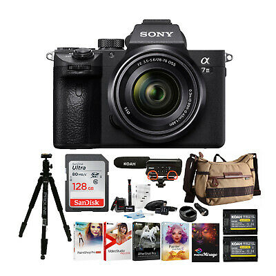 Sony Alpha a7iii Mirrorless Digital Camera with 28-70mm Lens Holiday Bundle