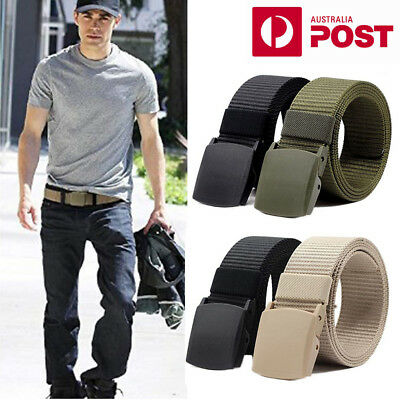 Nylon Men's Fashion Outdoor Sports Military Tactical Waistband Canvas Web Belt