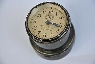 1910 Phinney Walker Keyless Clock Rim Wind  Ford Model T 1910