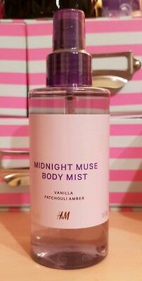 MIDNIGHT MUSE BODY MIST Vanilla Patchouli Amber H&M RARITÄT