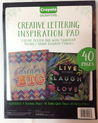 Crayola Chalkboard Hand Lettering Tutorials and Worksheets for Beginners 40 Page