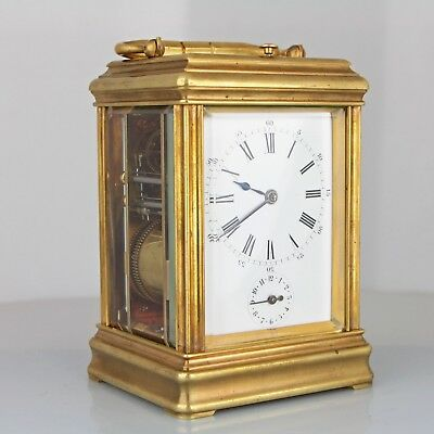 Antique Drocourt Petite Sonnerie Gorge Case French Repeater Carriage Clock
