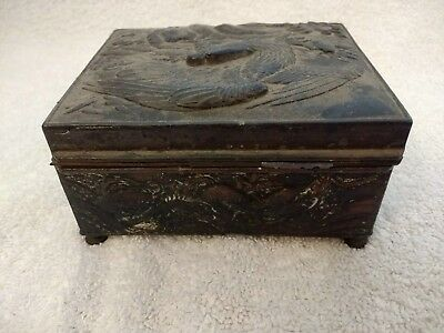 Decorative Silver Plated Box With Cedar Lining