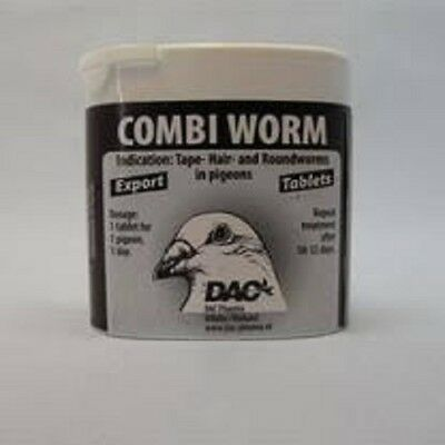 Pigeon Product - Combi worm tabs by DAC - Racing Pigeons