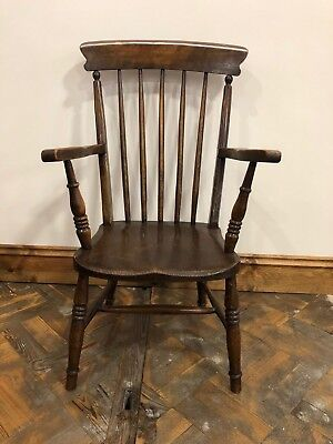 19th Century Ash Elm and Oak Fireside Armchair - Delivery Available