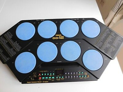 Yamaha DD12 Digital Percussion Drum Set and accessories boxed working free pp UK