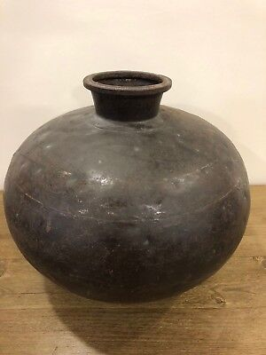 Impressive Unusual Metal Bowl or Vessel - Delivery Available