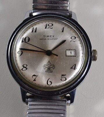Vintage Timex 1960s BOY SCOUTS Hand-Winding Wristwatch - Good Running