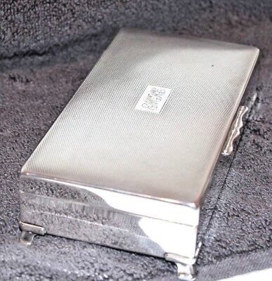 """Good Looking Silver Plated Cigarette Box  By """"Aristocrat"""" c1969"""