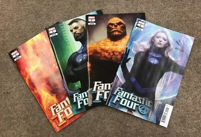 Fantastic Four #1 Artgerm Variant Set Thing Human Torch Invisible Woman & Mr