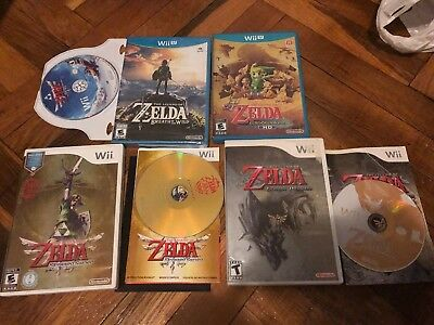 The Legend of Zelda 4 Game Lot  Wii/ Wii U