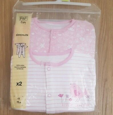 Girls  Sleepsuits Age 12-18 Months    New
