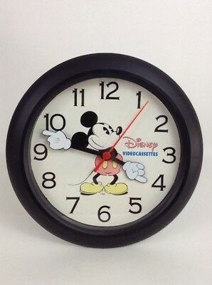Vintage 1980s Mickey Mouse Videocassette Wall Clock Disney Movie Promo item