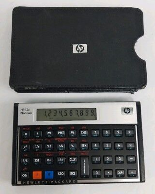 HP 12C Platinum Calculator Financial 10-Digit LCD with Case