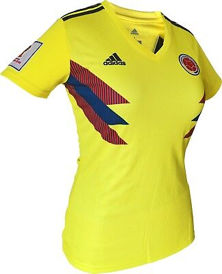 115c16711e8 Colombia Women Home Soccer Jersey Shirt with WORLD CUP 2018 sleeve patch  Adidas