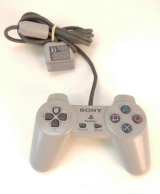 Official Original Sony Playstation 1 PS1 Wired Controller Gray SCPH-1080, TESTED