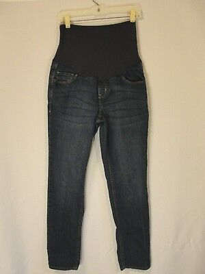 Old Navy Womens Maternity Full Panel Skinny Denim Jeans 12 Stretch