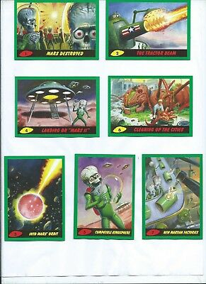 Mars Attack The Revenge Green Parallel Complete Set 110 Cards