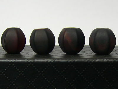 (eL224e) Tibet: 4 old Agate Beads
