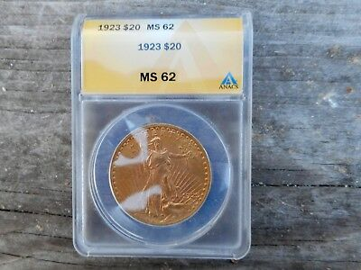 1923 Double Eagle Graded By Anacs Ms 62