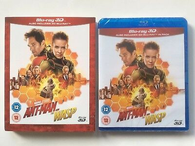 Ant-Man And The Wasp (3D Blu-ray+Blu-ray) Ships From US Seller, *Slipcover