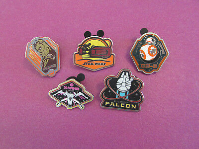 Disney trading pin set lot of 5 from star wars booster set