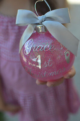 Christmas personalised bauble