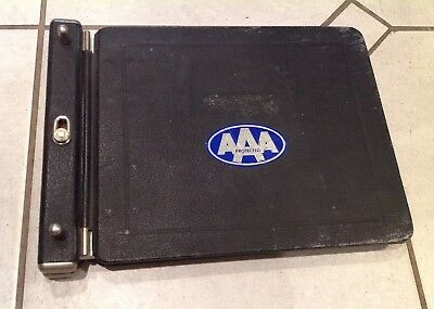 """Vintage Ledger Accounting Book Bound With Metal Holder 8 x 11"""""""