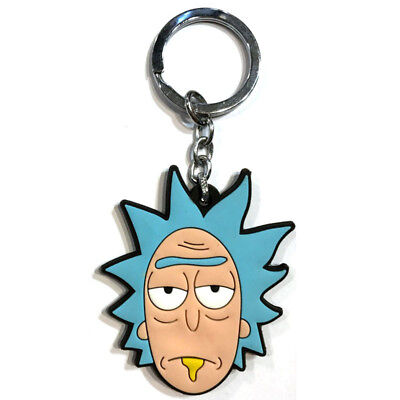 New double sided Rick and Morty Pickle Rick Soft Rubber Key chain Key ring 330