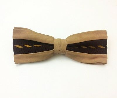 Ever Grip Vintage Bow Tie Art Deco Diamond Pattern Clip-On 1940s 1950s Dandy