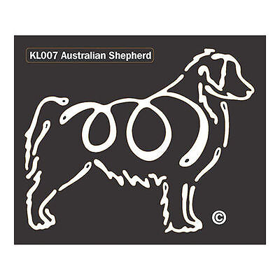 Australian Shepherd K-Lines Dog Car Window Tattoo Decal Sticker