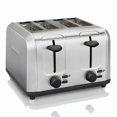 Hamilton Beach Stainless Steel 4-Slice (Extra wide) Toaster with bagel function