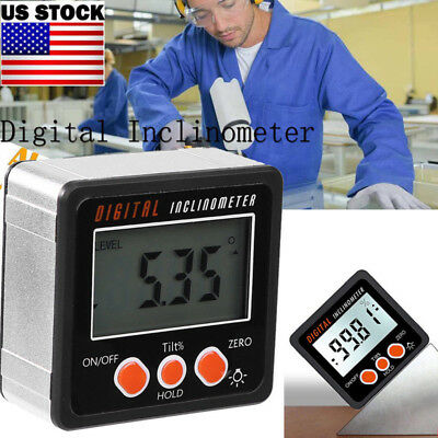 0-360° LCD Digital Level Box Inclinometer Protractor Bevel Gauge Angle Finder US