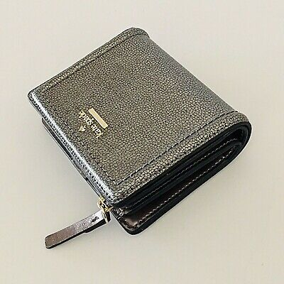 NWT Kate Spade Small Shawn Patterson Drive Pewter Small Wallet Clutch $99