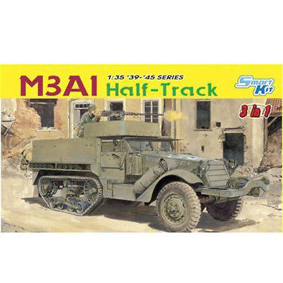 DRAGON 6332 1/35 U.S M3A1 Half-Track - 3 in 1 New