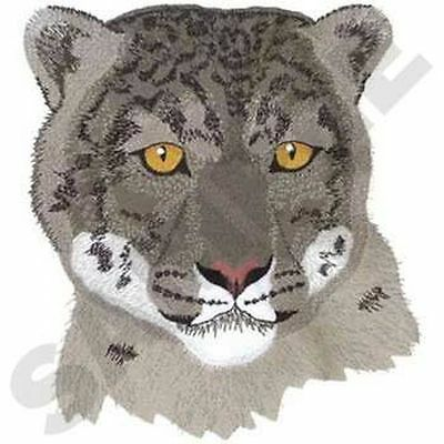 """Snow Leopard, Wild Animal, Exotic Cat Embroidered Patch 8.8""""x 6"""""""