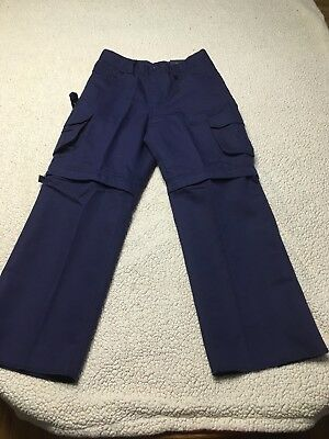 BSA Cub Scout Switchback Pants Convertible Zip Off Navy Blue Boy Size 10Y NWT