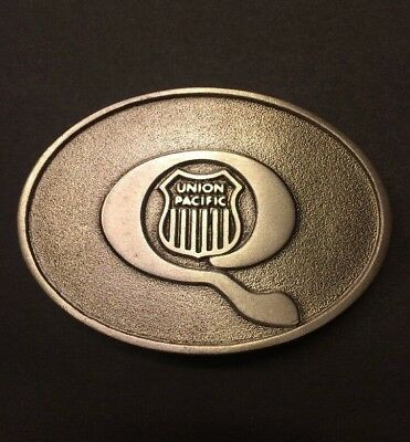 New Vintage Union Pacific Railroad Mission Trains Pewter Belt Buckle RARE