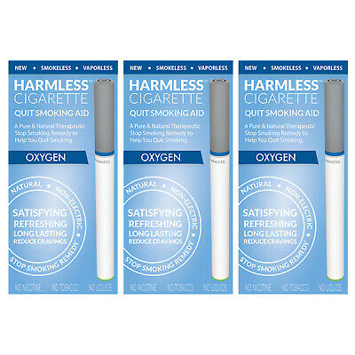 Harmless Cigarette Natural Stop Smoking Aid Satisfying Oxygen Flavored 3 Pack