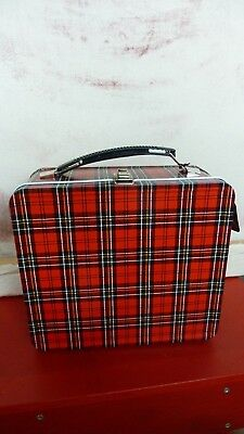 ALADDIN'S Heritage Plaid Lunch Kit - Classic Metal Vintage Style Lunch Box   NWT