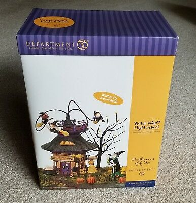 Dept 56 - Halloween - Witch Way? Flight School (#56.55347)