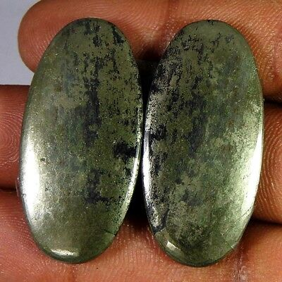 66.85Cts 100%Natural Apache Gold Oval Pair Cabochon Loose Gemstone