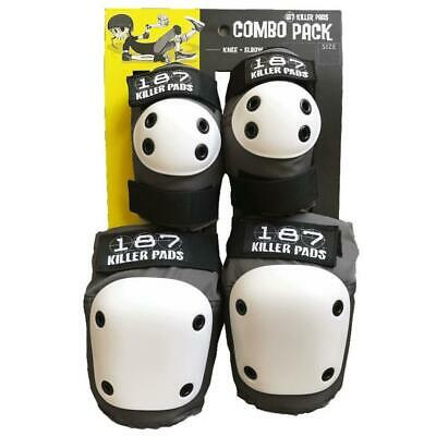 187 Knee and Elbow Pad Combo Pack Grey