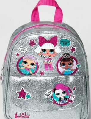 LOL Surprise Silver Backpack Sparkle Merbaby Miss Baby Rocker L.O.L Surprise NEW