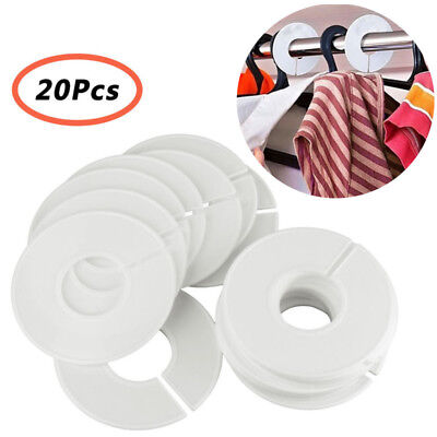 20x Round Clothing Rack Hangers Size Dividers for Clothes Stores Wardrobe Closet