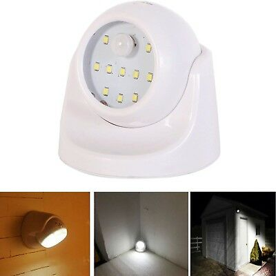 10 LED Motion Activated Wireless Light Indoor Outdoor Garden Wall Patio Shed